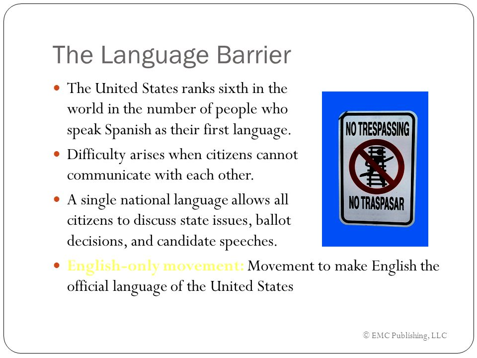 The meaning of political inequality equal rights ppt download emc publishing llc the language barrier the united states ranks sixth in the world sciox Image collections