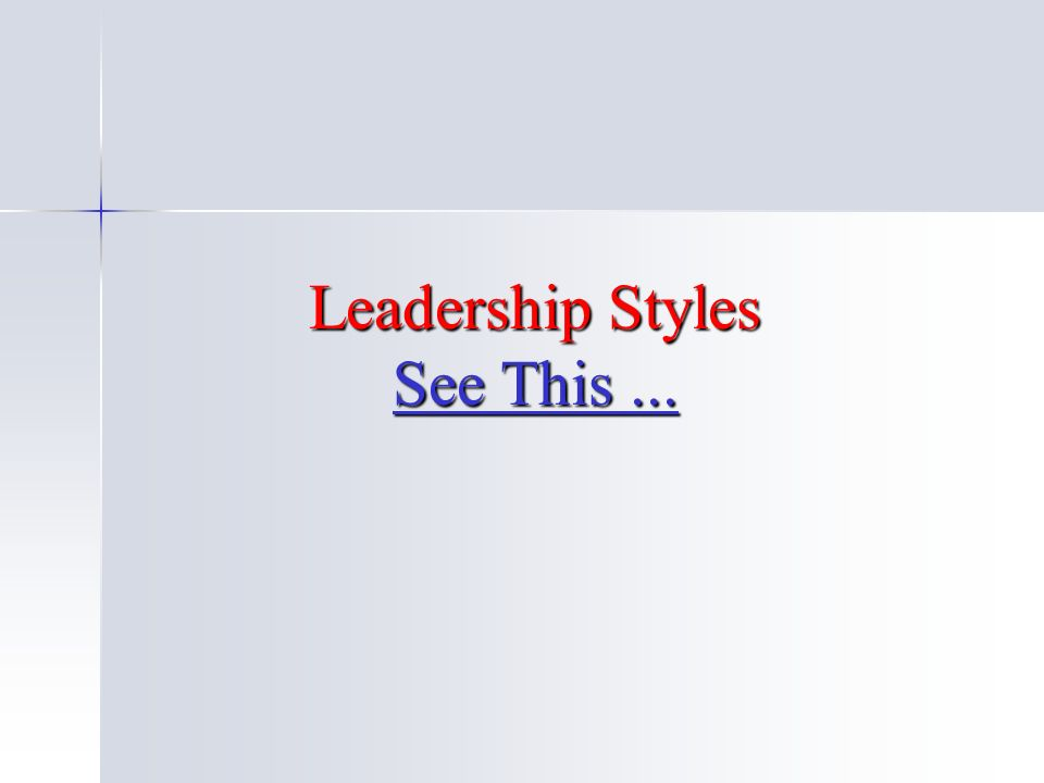 Leadership Styles See This... See This... See This...