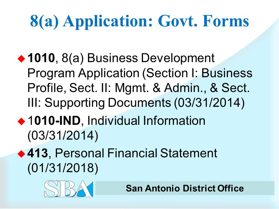 How to Successfully Apply for SBA 8(a) BD Program Certification ...