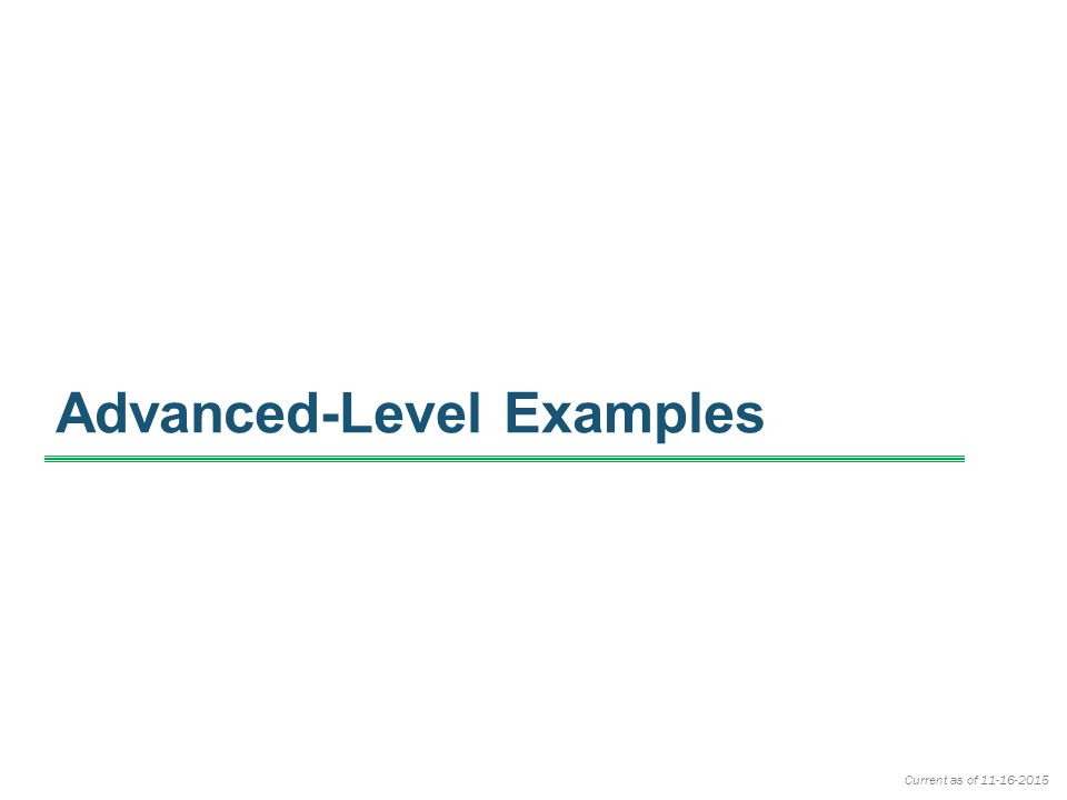 Part III – ACA Examples Presented on November 23, ppt download