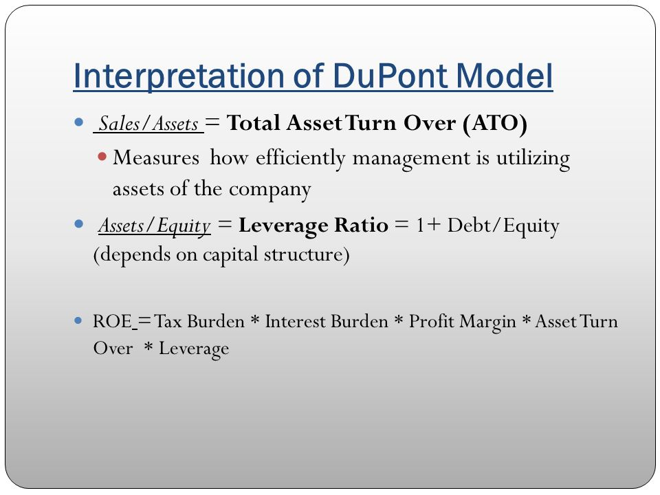 A du pont analysis of automobile companies SlideShare