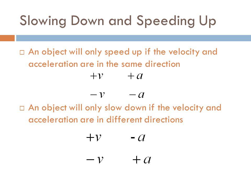 velocity and m s