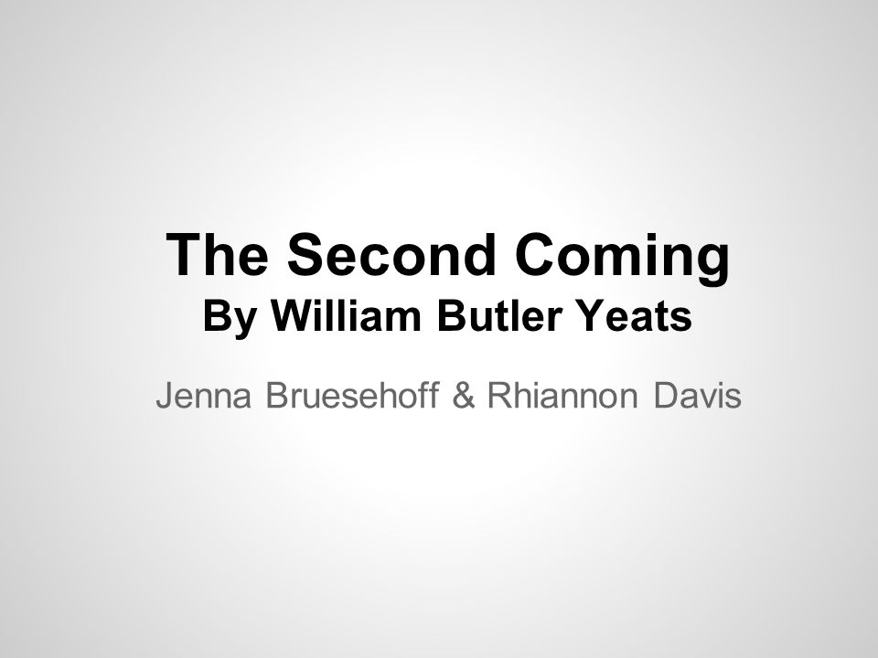 an analysis of metaphors in the second coming by william butler yeats