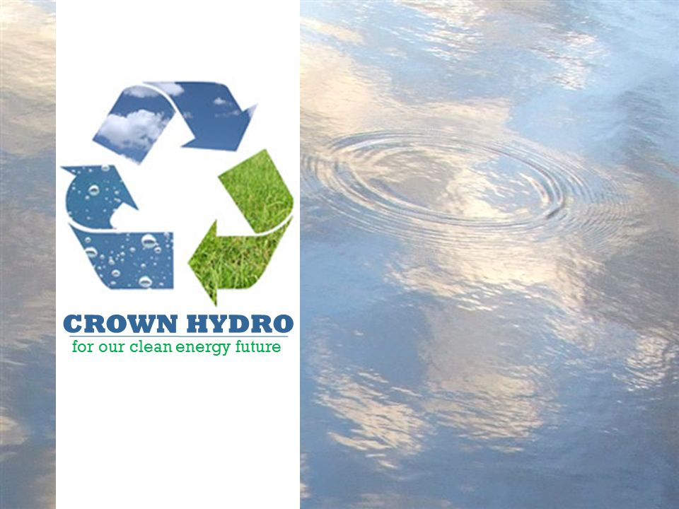 CROWN HYDRO for our clean energy future