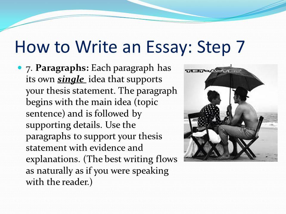 how to write a 7 paragraph essay
