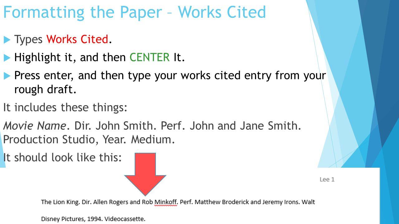 mla format works cited internet