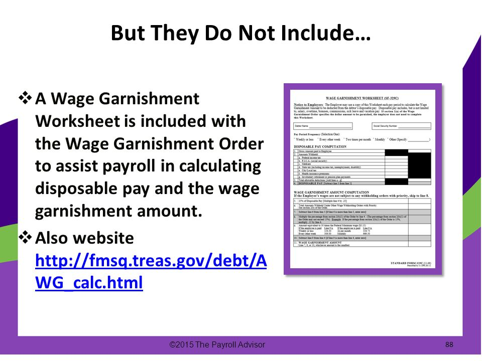 Printables Garnishment Worksheet Mywcct Thousands Of Printable
