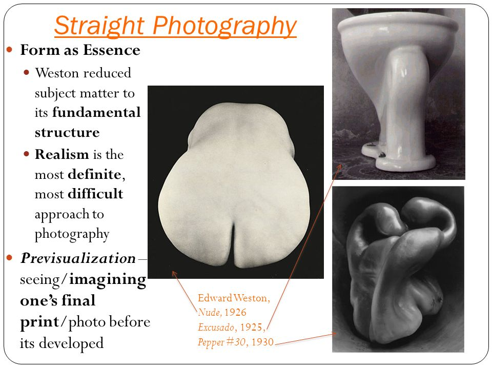 Straight photography and pictorialism?