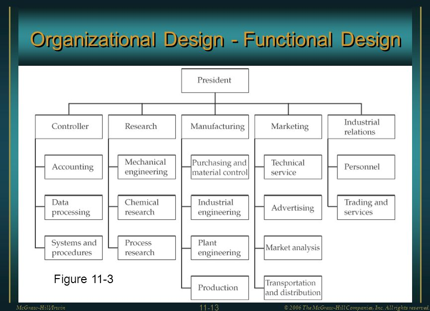 Organizational Design - Functional Design McGraw-Hill/Irwin© 2006 The McGraw-Hill Companies, Inc.