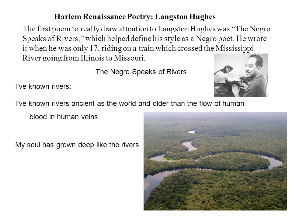 langston hughes poetry style