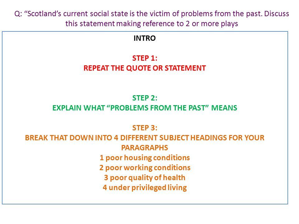how to write a scottish contemporary essay in simple steps  q scotland s current social state is the victim of problems from the past