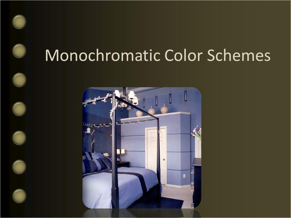 1 Monochromatic Color Schemes