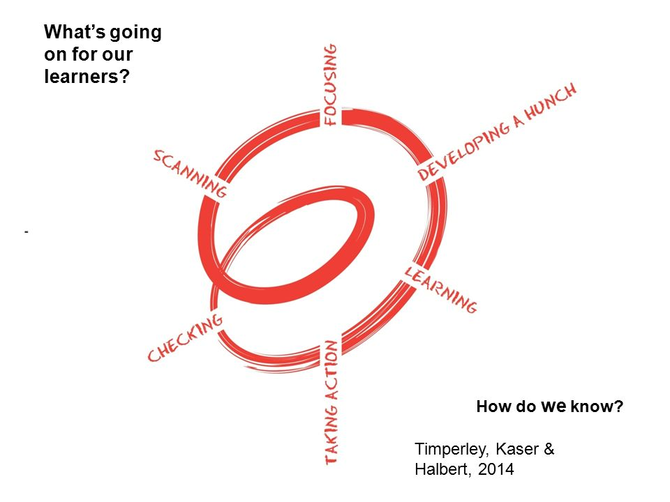 What's going on for our learners How do we know Timperley, Kaser & Halbert, 2014