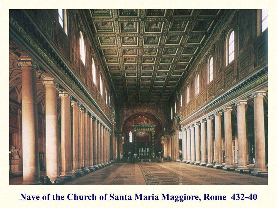 Nave of the Church of Santa Maria Maggiore, Rome 432-40