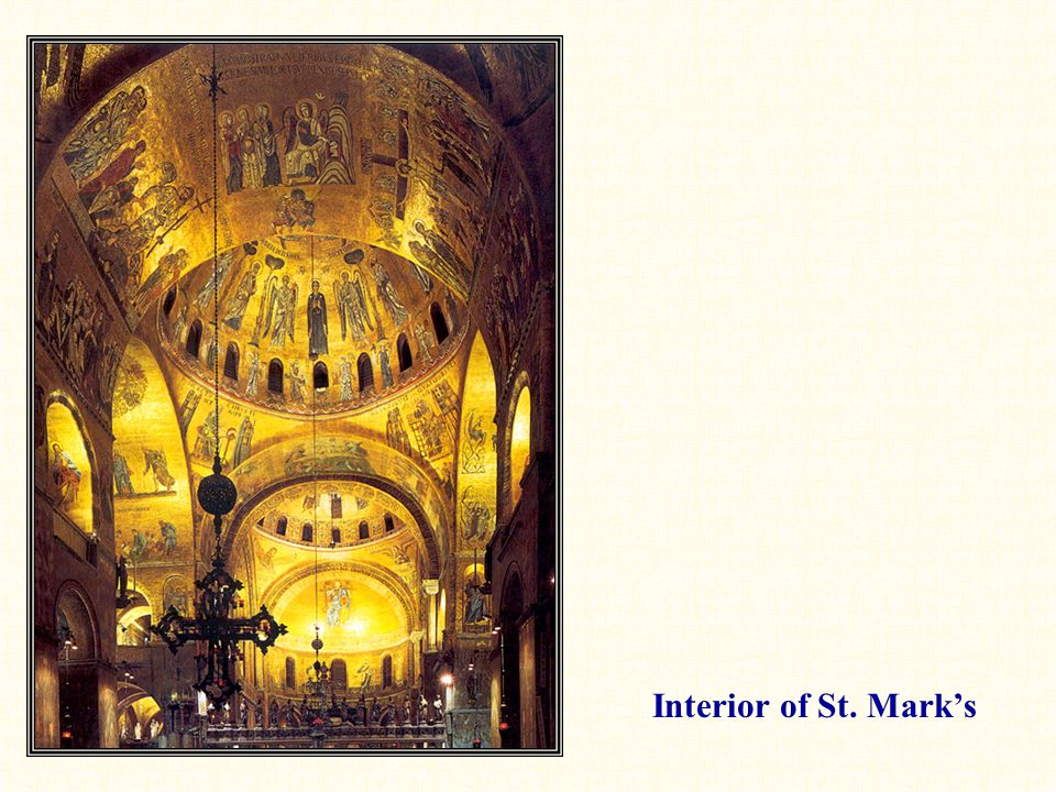 Interior of St. Mark's