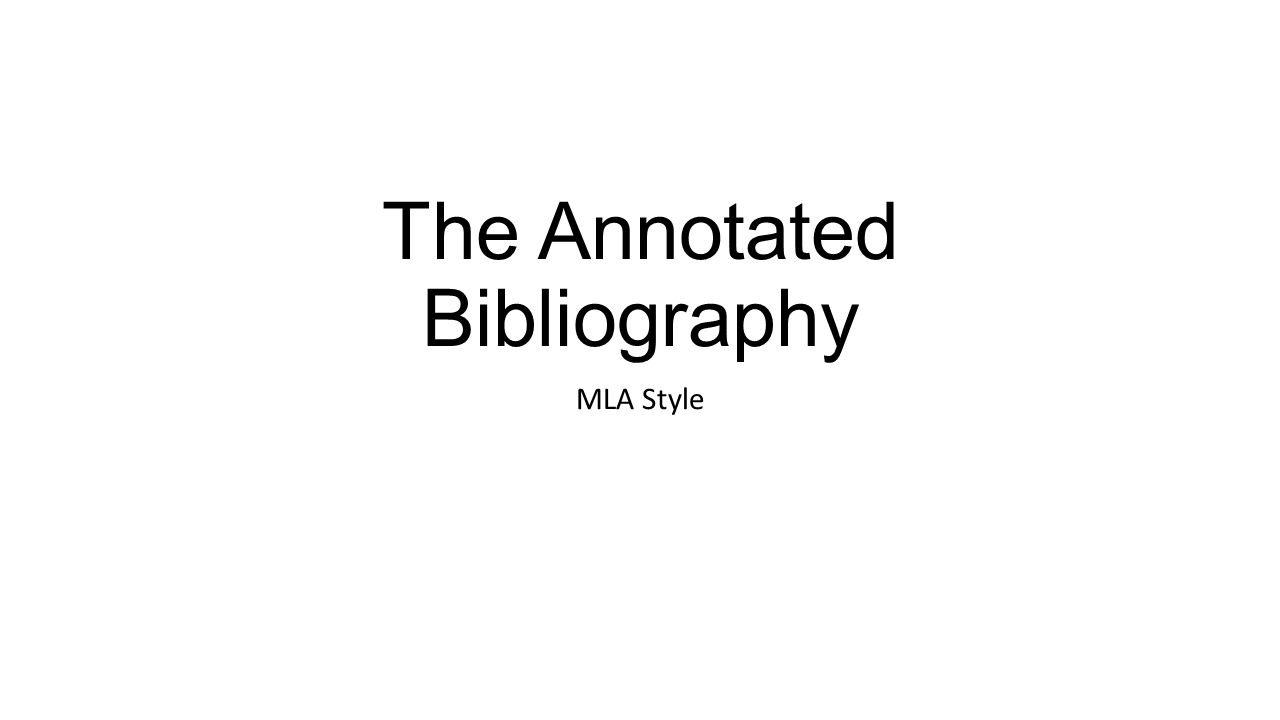 "i need an annotated bibliography right now ""annotated bibliography"" the phrase itself induces a flow of questions why do i need it how can i use it in my research what are the rules for it what does it."
