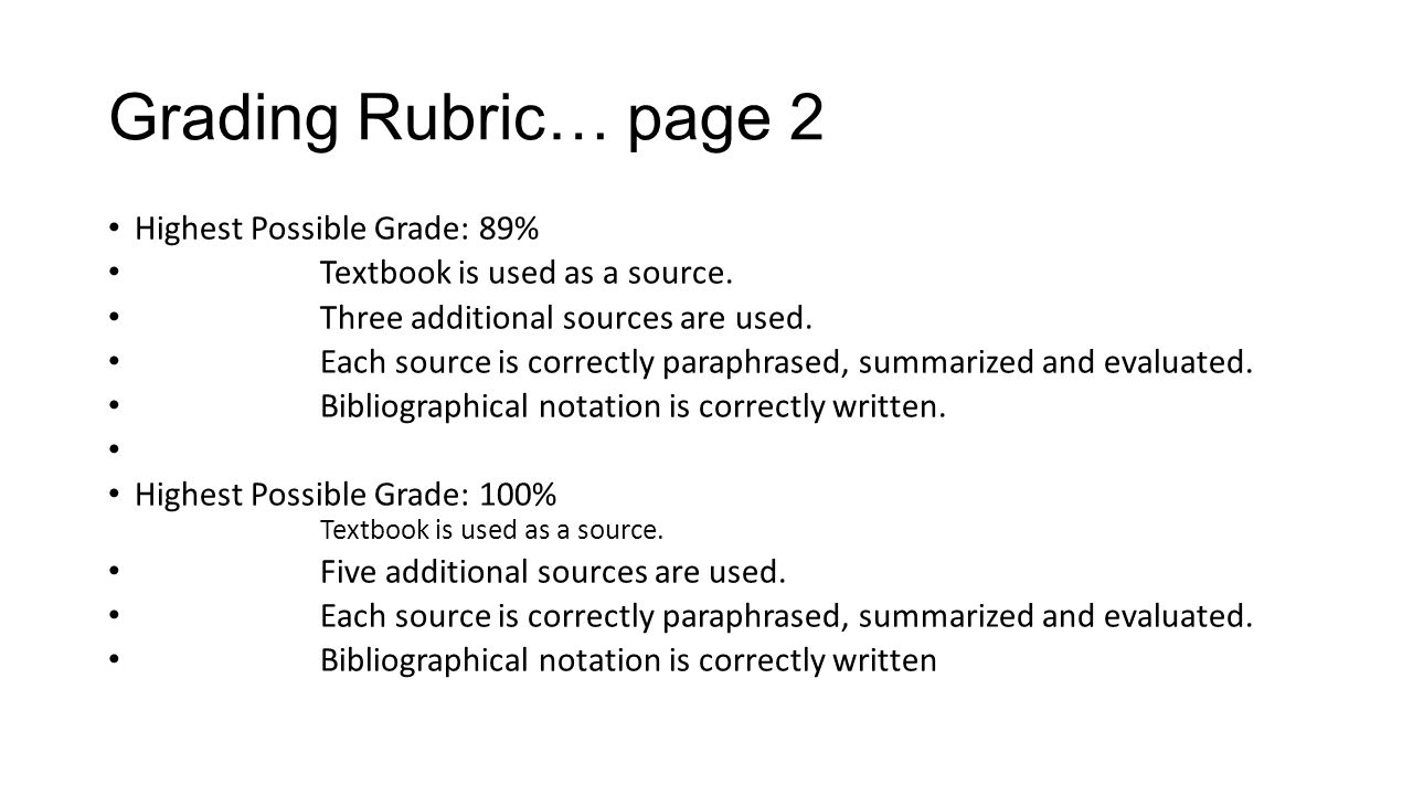 One ocean rubric at   bibliography