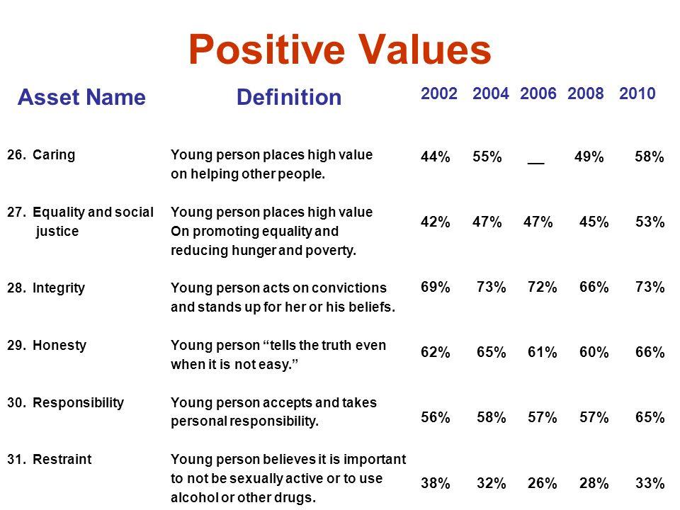 Positive Values Asset NameDefinition 2002 2004 2006 2008 2010 26.