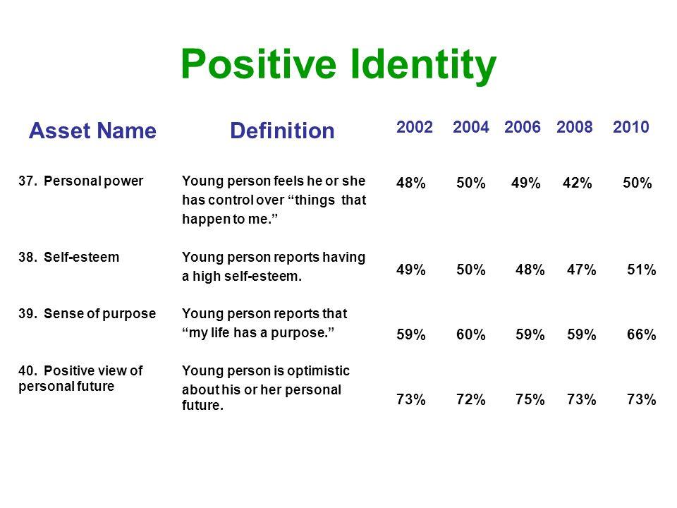 Positive Identity Asset NameDefinition 2002 2004 2006 2008 2010 37.