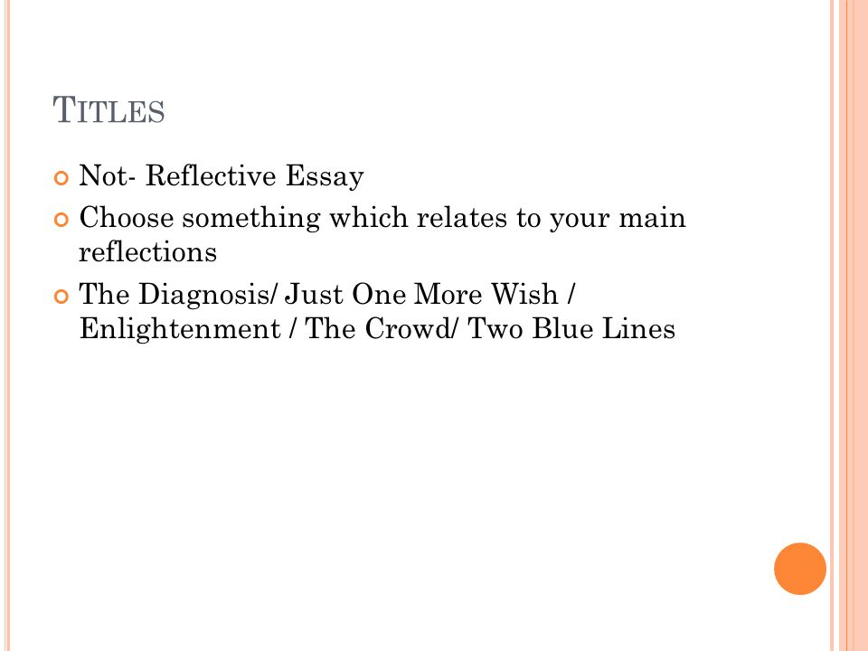 higher english reflective essay