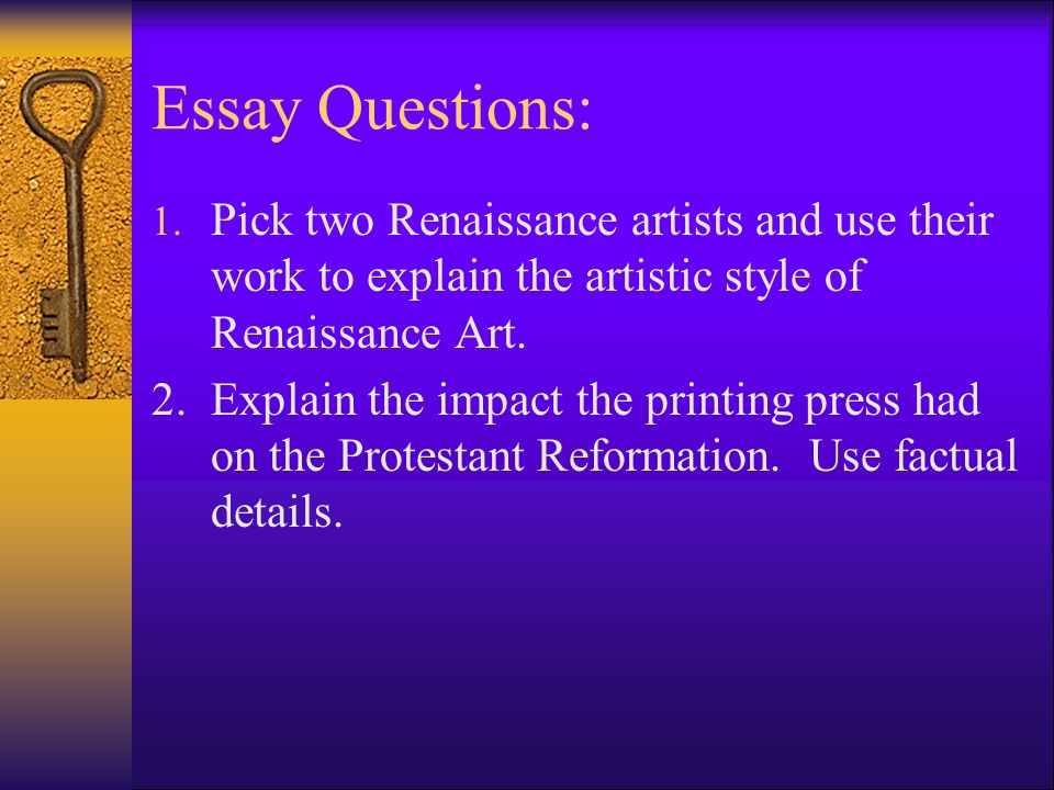 The Renaissance Essay
