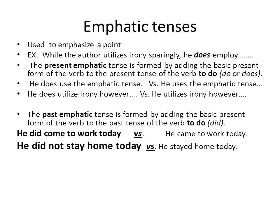 2 Emphatic ...