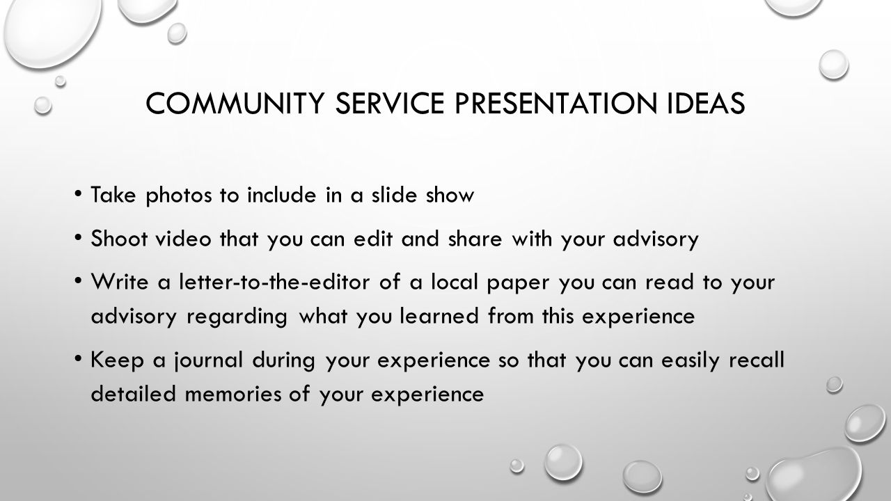 community service reflection 1 Postdoctoral dental education it can be a powerful tool to turn your service experience into a more level 1: the mirror: reflection of the.