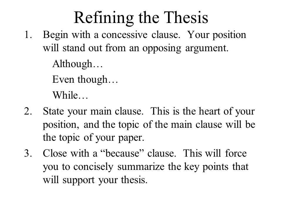Thesis Research Paper