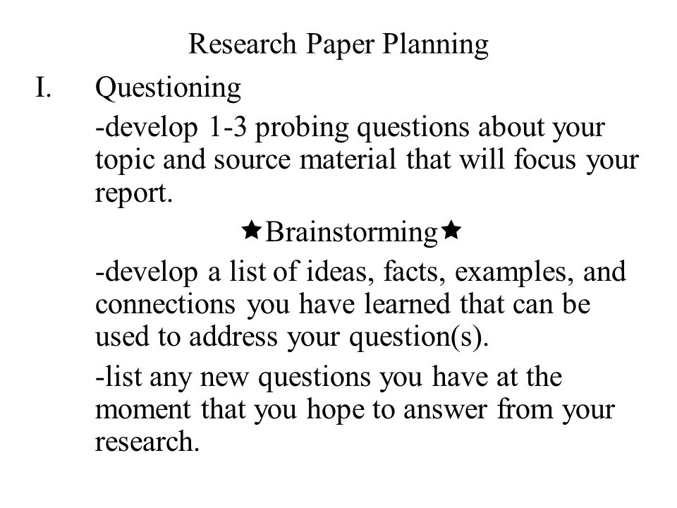 research paper topic questions Having a hard time deciding on your research paper here are some tips and suggestions on how you can choose the best research paper topics.