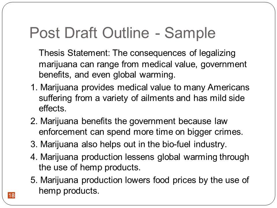 Legalizing Marijuana Essay Outline