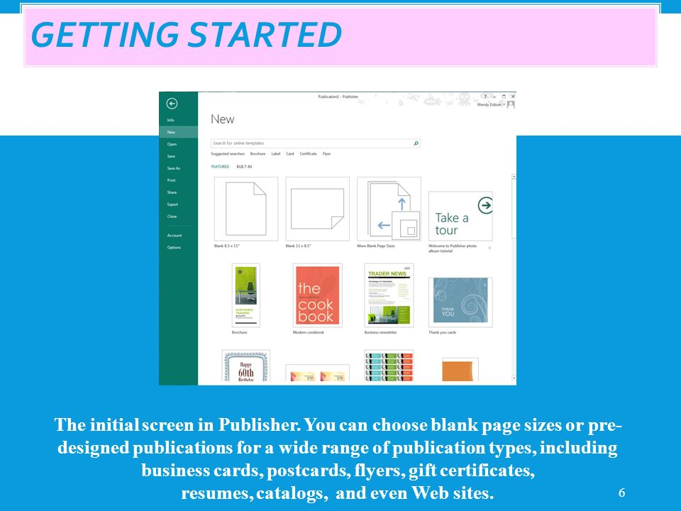 1 ©. WHAT IS PUBLISHER? 2 Things you can do with Publisher ...