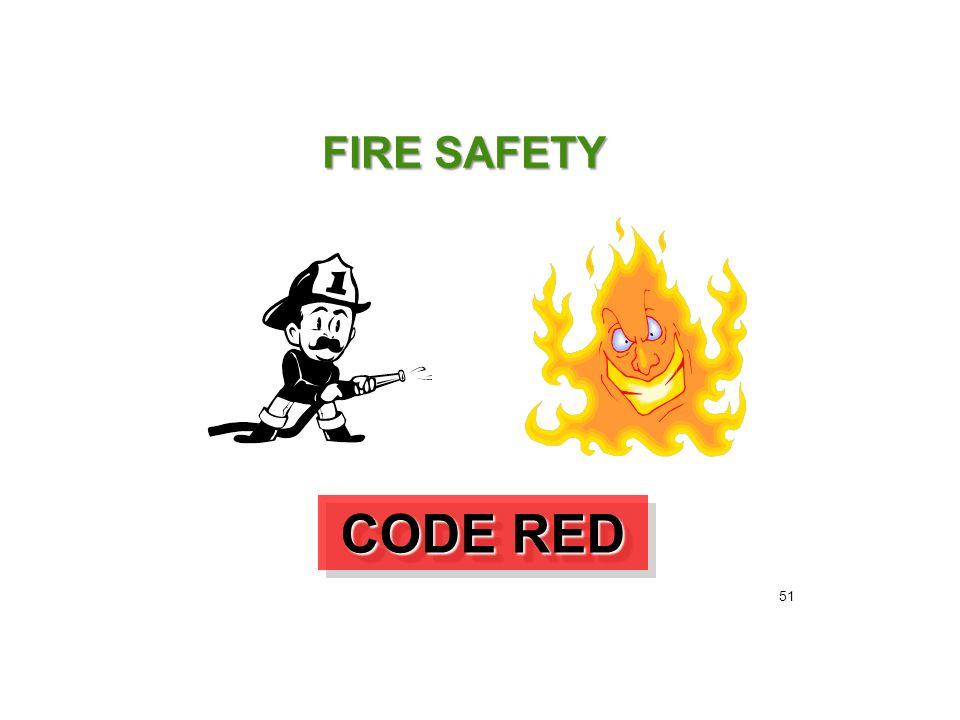 FIRE SAFETY CODE RED 51