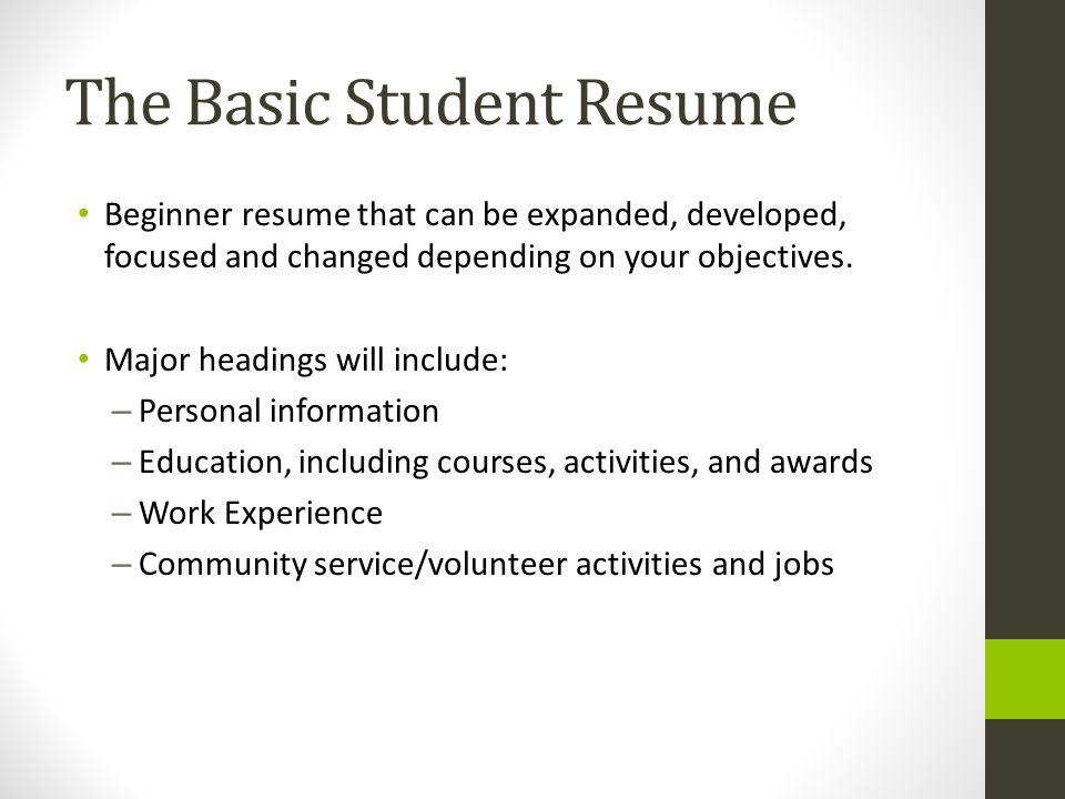 Volunteer focused resume