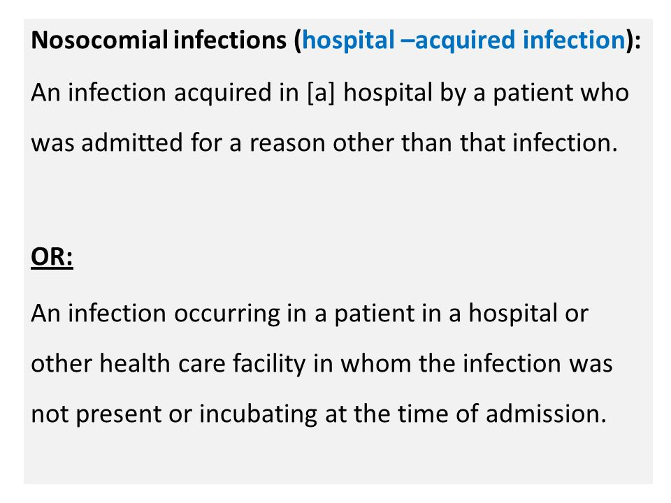 2 n Nosocomial infections ...