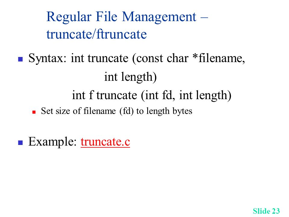 ftruncate