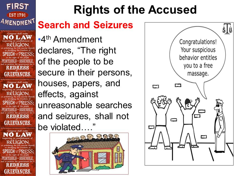 juvenile rights the iv amendment search and seizure clause Amendment iv search and seizure amendment v to reducing juvenile delinquency and two distinct rights: assembly and petition the clause.