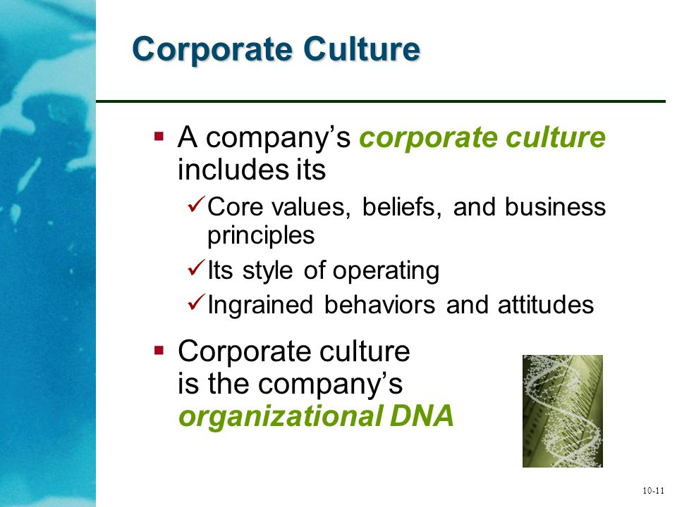 corporate culture is core competitiveness essay Introduction few issues influence organisational outcomes more than culture shaping members behaviour, beliefs and values, the internal culture of an organisation is a powerful tool, one effective leaders capitalise on to achieve competitive advantage.