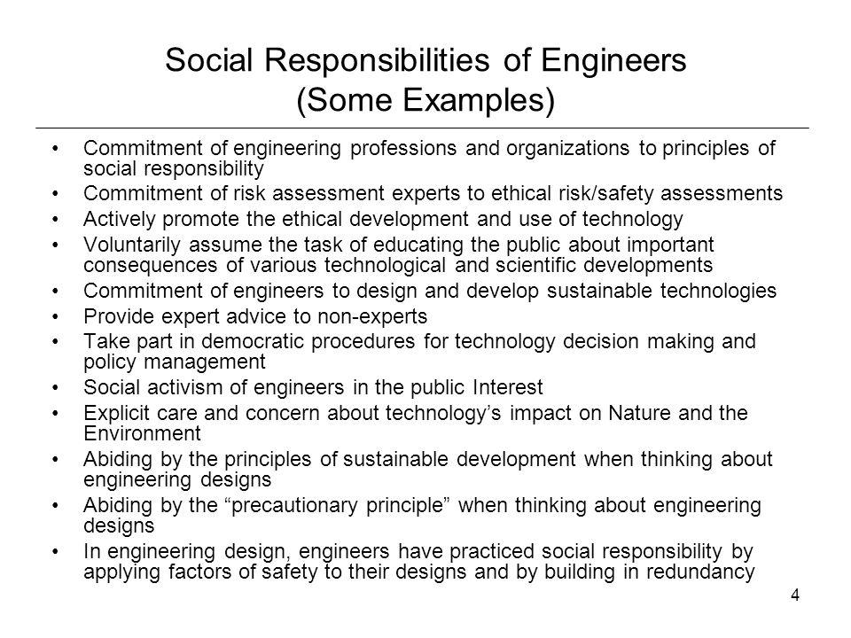 "1 Do Engineers Have Social Responsibilities? ""People enjoy what ..."