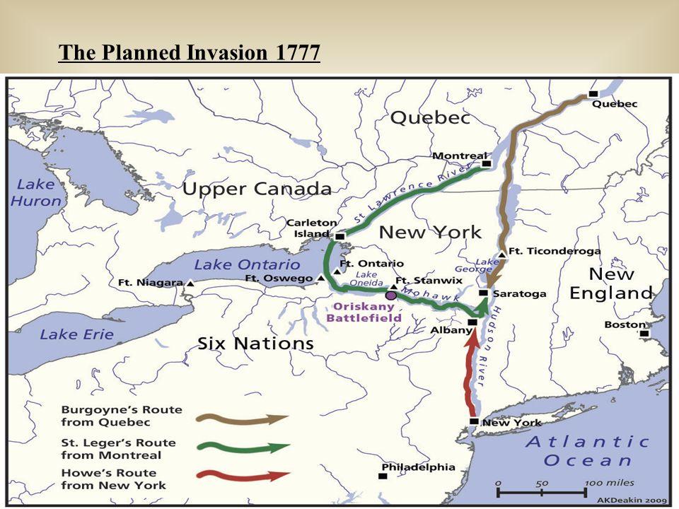 Map of the Saratoga Campaign 1777