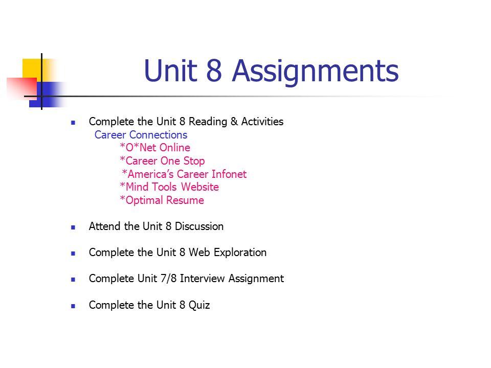 career assignmetn