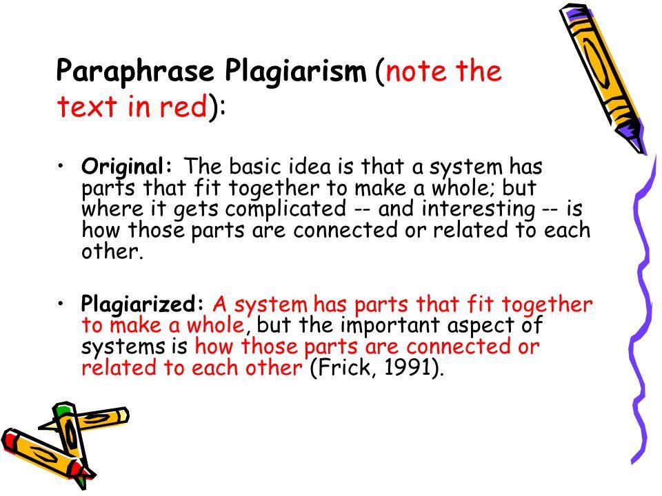 Is paraphrasing plagiarism