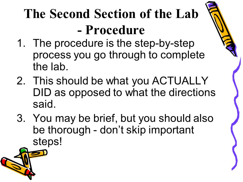 steps of a lab report Here you can find tips about organizing your lab notebook, how to effectively create graphs and table for lab reports, places to locate protocols and property information, and how to properly cite resources.