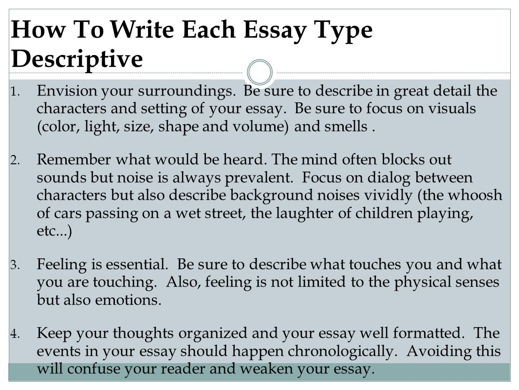 essay type interview
