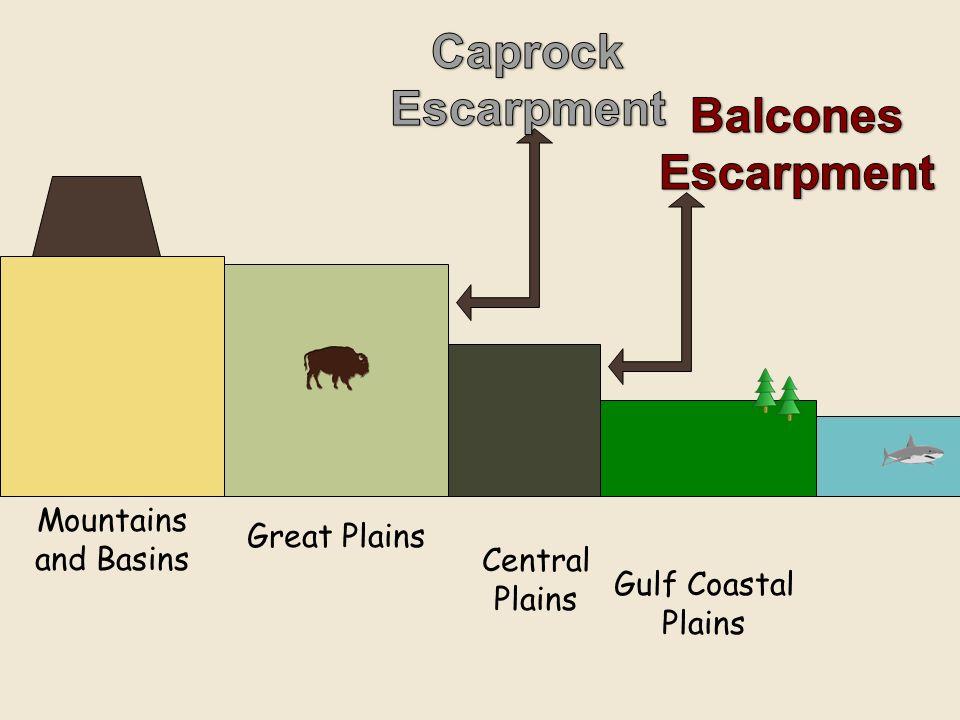 Central Plains Gulf Coastal Plains Great Plains Mountains and Basins