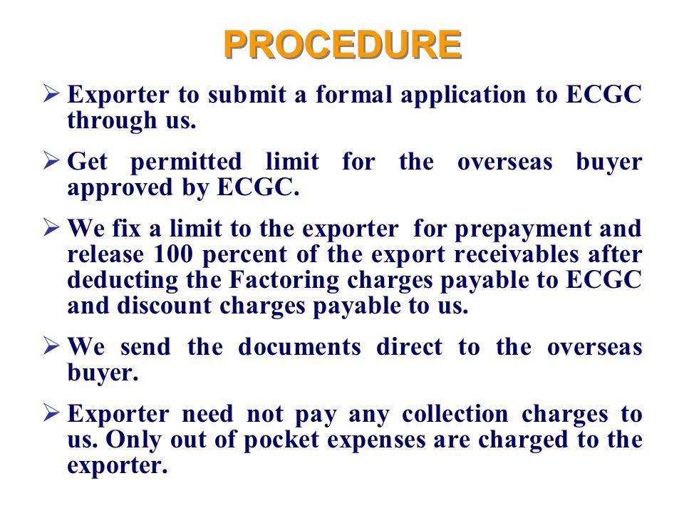 export procedure formalities
