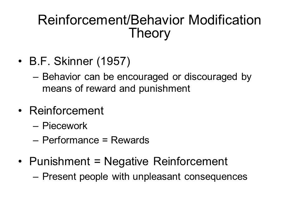 Reinforcement/Behavior Modification Theory B.F.