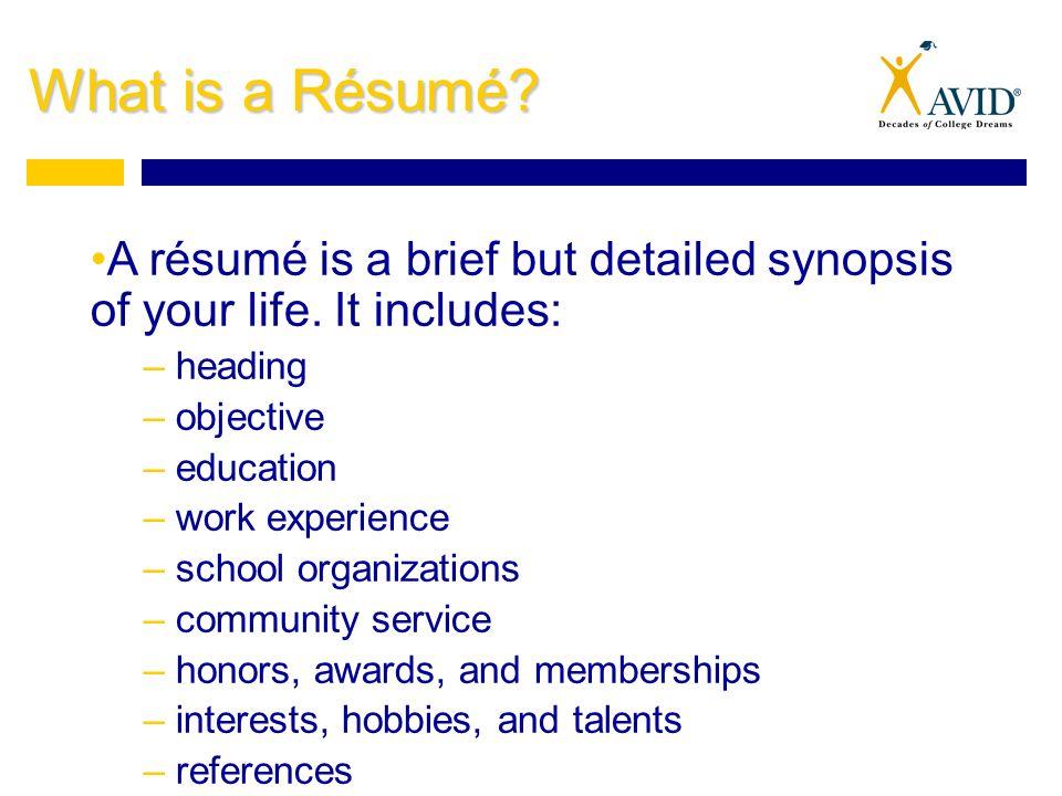 tips for writing good résumés what is a résumé a résumé is a