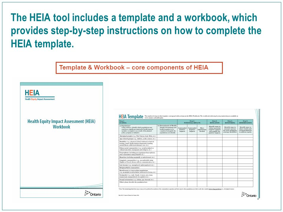 What Is The Health Equity Impact Assessment (Heia)? Module B