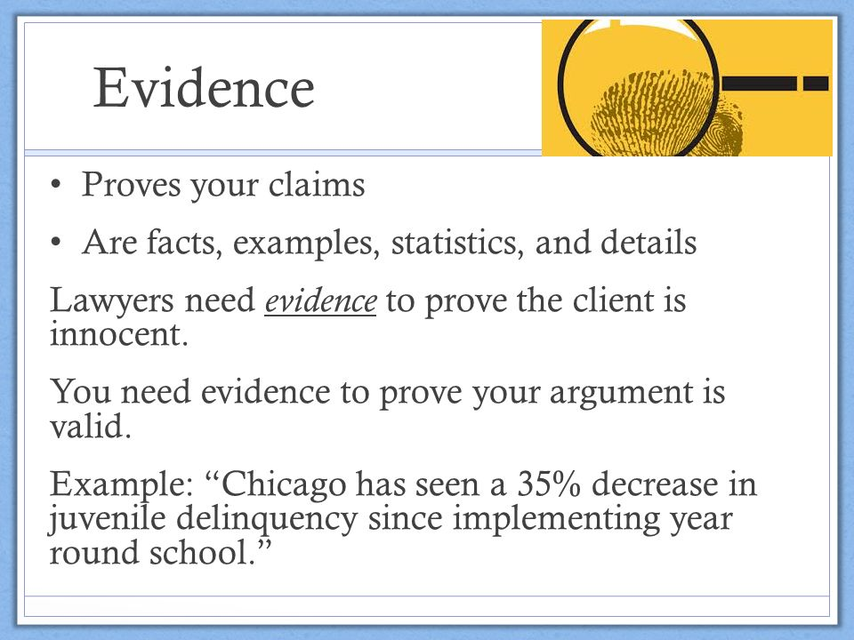 claim evidence warrant essay Strategy 2 building arguments through mini-debates writing focus: students will practice using evidence to make and defend an argument common core alignment: develop claim(s) and counterclaims fairly and thoroughly, supplying the most relevant data and evidence for each while pointing.