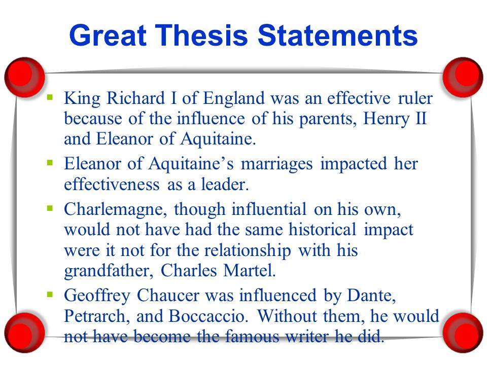What would be a good thesis statement for a research paper about King Henry VIII?